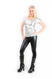 Bling t-shirt zilver