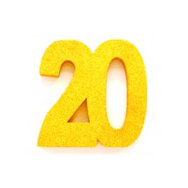 Tafel decoratie goud 20