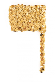 Paillettenband golvend goud 3m