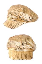 Gouden pet spangles