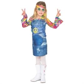 Hippie jeans jurkje meisje