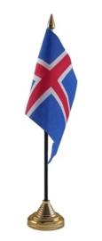 Tafelvlag Ijsland zwart