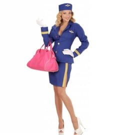 Stewardess jurkje blue chique