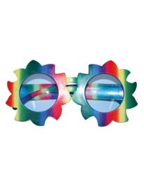 Regenboog bloemenbril