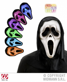 Scream masker lichtgevend