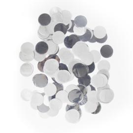 Confetti groot zilver