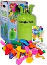 Helium tank Balloongaz met 30 Meerkleurige Ballonnen en Lint