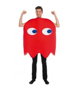 Rode pacman geest kostuum