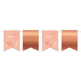 Vlaggenlijn Elegance lush blush 40 jaar