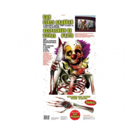Creepy Clown Halloween raam decoratie