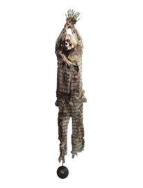 Hangend gevangene skelet pro 210cm