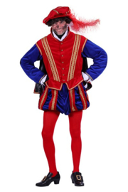 Pieten kostuum luxe rood blauw