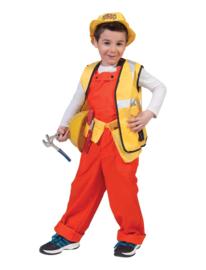 Fluor oranje overall kinderen