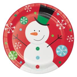 Bordjes sneeuwvlok sneeuwpop