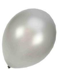 Kwaliteitsballon metallic zilver 100 stuks