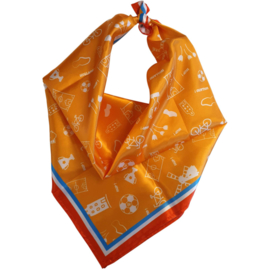 Sjaal dames oranje