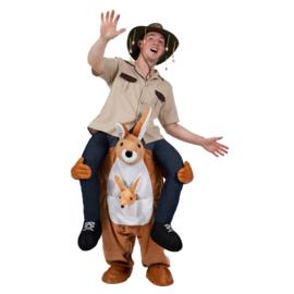 Door kangaroo gedragen kostuum