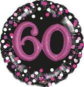 Folieballon sparkling pink 3D 60 (81cm)