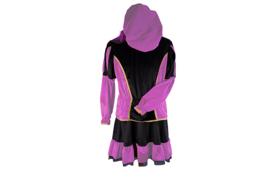 Pieten jurk Marcia zwart roze deluxe