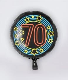 Neon folieballon 70 jaar