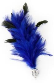 Verenpluim blauw 30cm clip