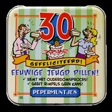30 jaar! fun pepermuntjes