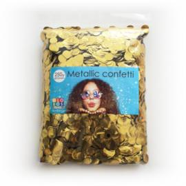 Confetti metallic rond 10mm 250 gram goud