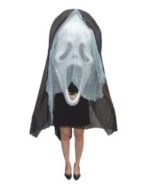 Kostuum met groot scream hoofd
