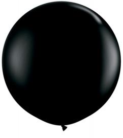 Ballon 90cm zwart qualatex
