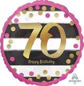Folieballon pink & gold 70 (43cm)