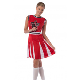 Cheerleader jurkje rood cheer