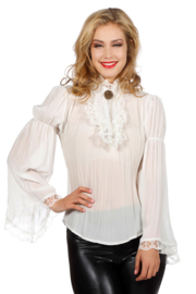 Piraten blouse ecru
