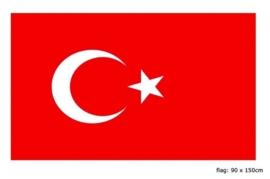 Vlag Turkije 90x150