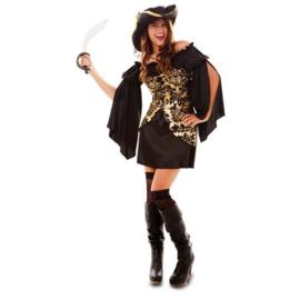 piraat zwart goud dame