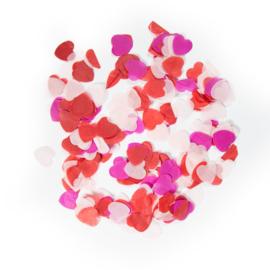 Confetti groot hart rood / roze