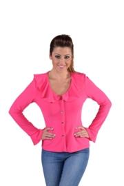 Jersey blouse roze op=op