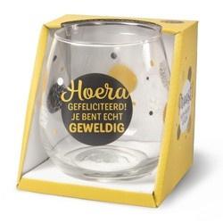 Wijnglas Hoera Proost!