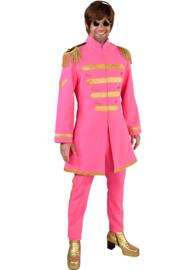 Sgt. Pepper kostuum pink deluxe