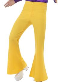 Disco 70's broek geel