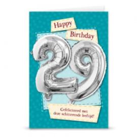 Leeftijd ballonnen kaart 29 jaar