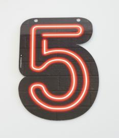 Neon cijfer 5