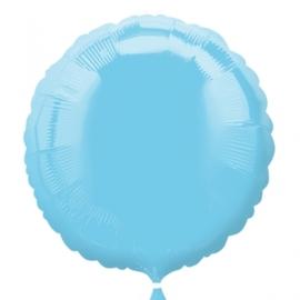 Folieballon rond lichtblauw