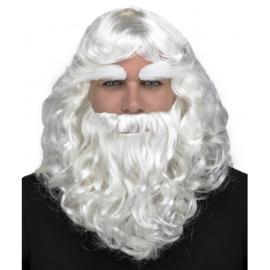 Kerstman baard en pruik luxe