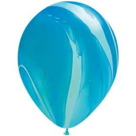 Marmer ballonnen blue 25 stuks