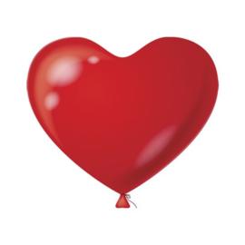 Hartenballonnen Rood 100 st.