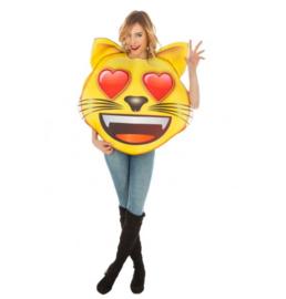 Emoji hart kat kostuum