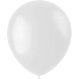 Ballonnen Coconut White Mat 33cm - 50 stuks
