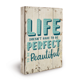 Houten beach bord life perfect