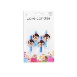 4 Cake kaarsjes Pirates