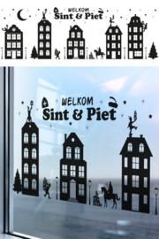 Raamstickers Welkom Sint en Piet